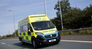 The photo shows an electric ambulance.