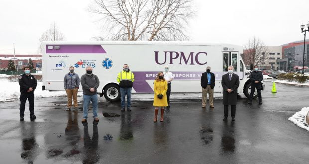 UPMC Susquehanna Ambulance Bus